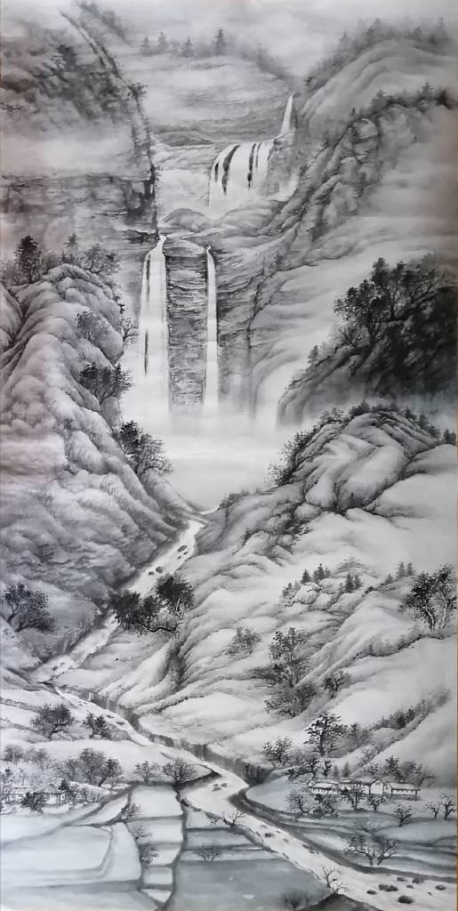 廖麗玲 Liling-悠悠山居  Water Life Solace(捲軸)