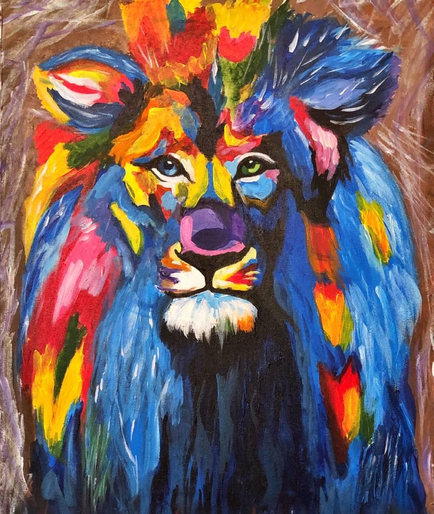 拾遺 畫話-彩色獅