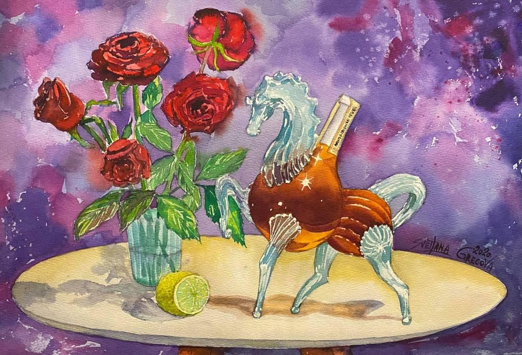 葛拉娜-Conversation between the whiskey horse and the rose