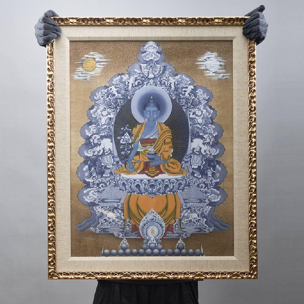 金寶‧旺楚克-Medicine Buddha 藥師佛 (版畫)