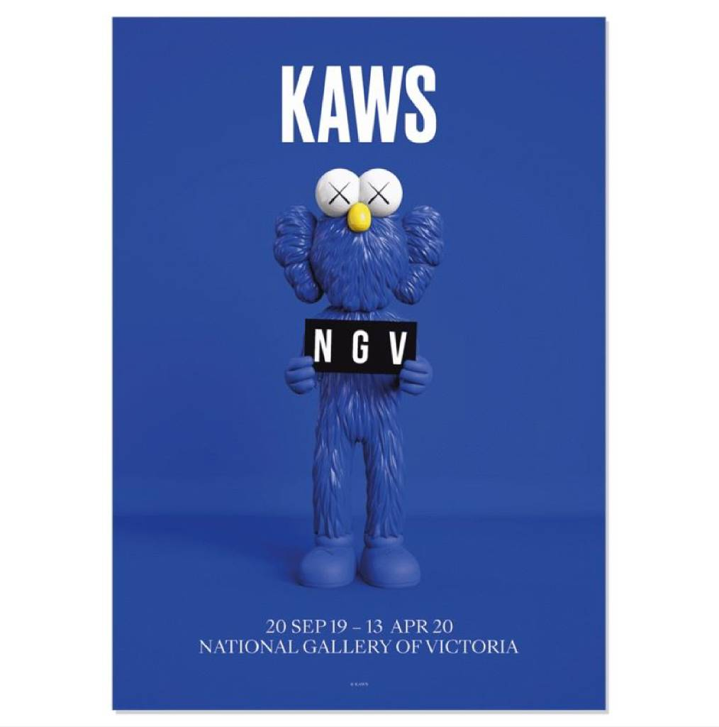 多納藝術-KAWS BFF 藍色海報 2019