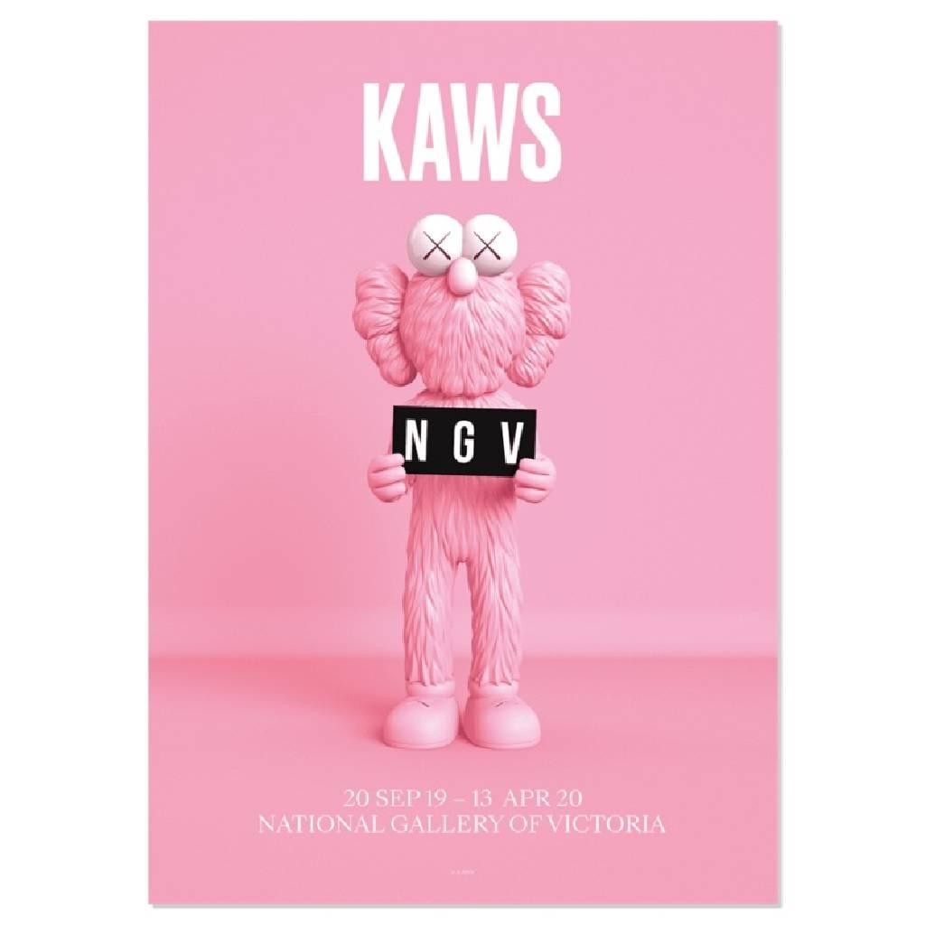 多納藝術-KAWS BFF 粉紅色海報 2019