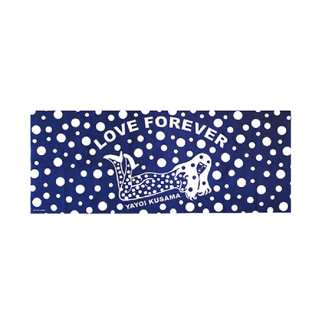 多納藝術-草間彌生 永恆的愛(藍)手巾