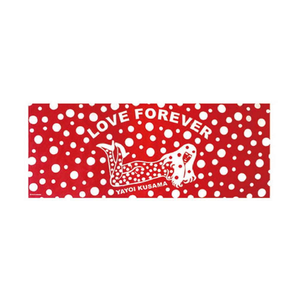 多納藝術-草間彌生 永恆的愛(紅)手巾