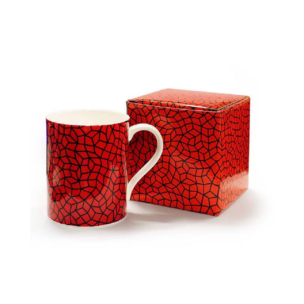 多納藝術-草間彌生骨瓷杯 (紅)