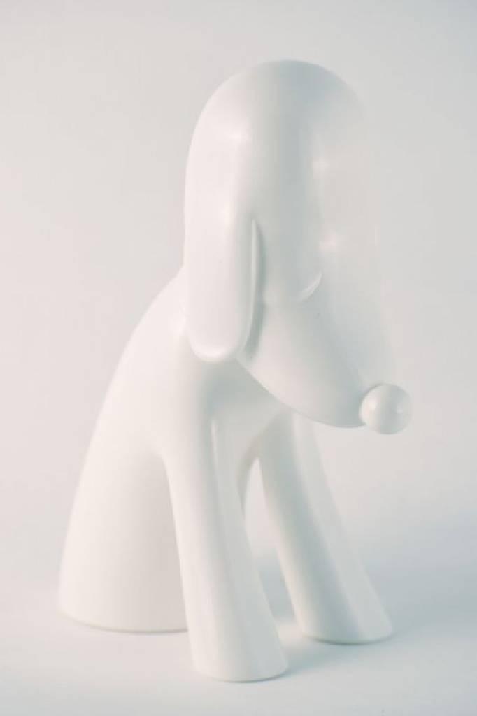 多納藝術-奈良美智 青森狗存錢筒 (白) 青森縣立美術館10周年記念 限量 日本原廠