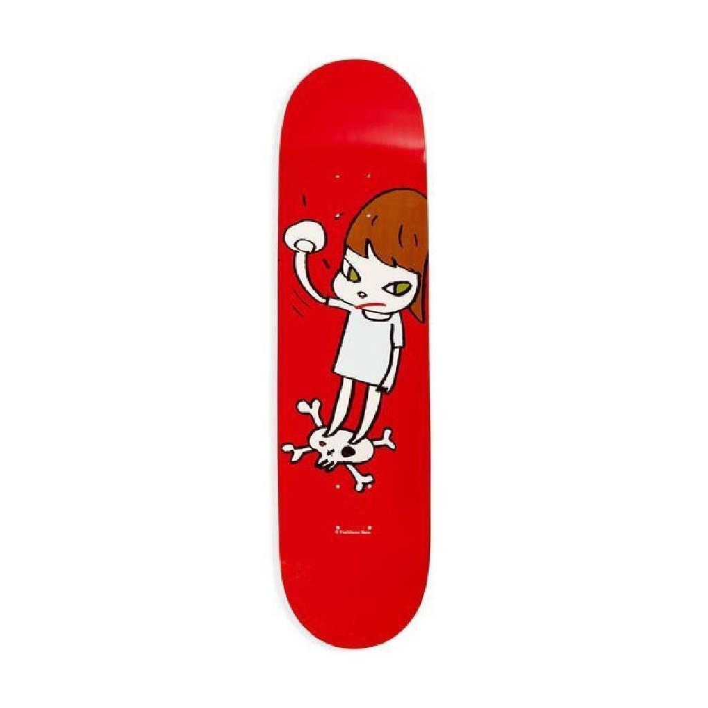 多納藝術-奈良美智 NARA Yoshitomo 木質滑板 skateboard (紅)