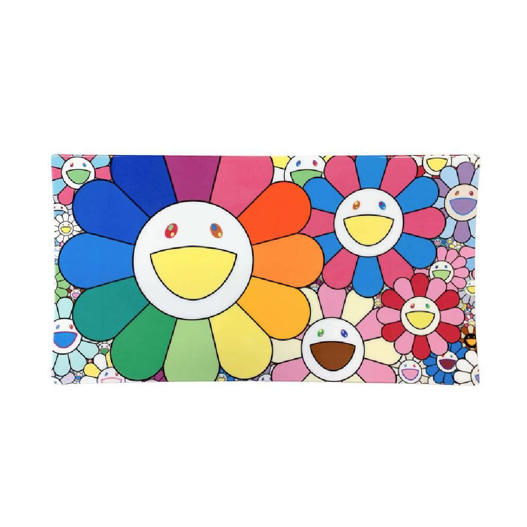 多納藝術-村上隆 POP UP FLOWER 陶瓷盤