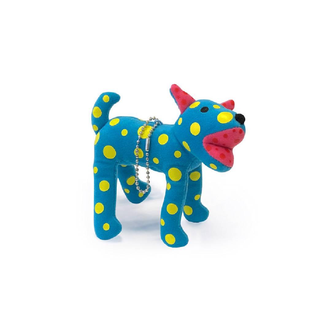 多納藝術-草間彌生 圓點小狗 Plush Dog Charm Toko-Ton