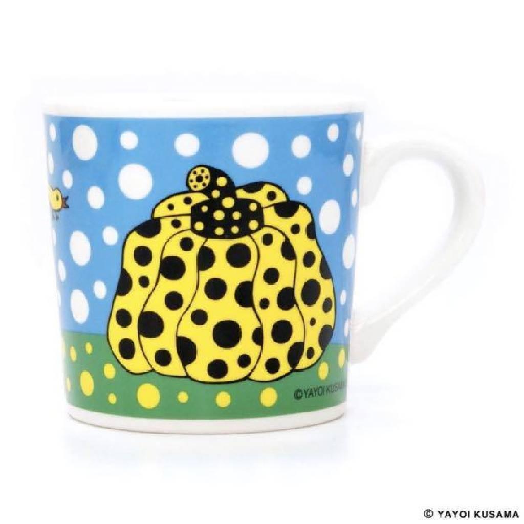多納藝術-草間彌生南瓜杯 藍 Yayoi KUSAMA Pumpkin Mug Cup (blue)