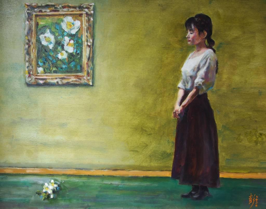 彭滂沱-女子與畫