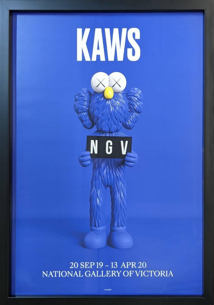 多納藝術-KAWS BFF海報 2019 (藍、含框)