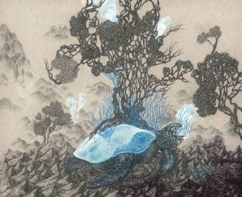 110年「璞玉發光-全國藝術行銷活動」得獎者作品線上展售-未定的棲地島-2