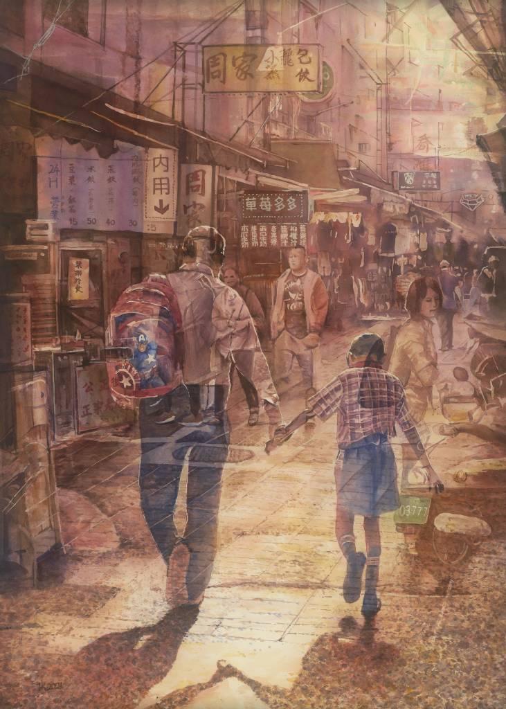 110年「璞玉發光-全國藝術行銷活動」得獎者作品線上展售-父與子