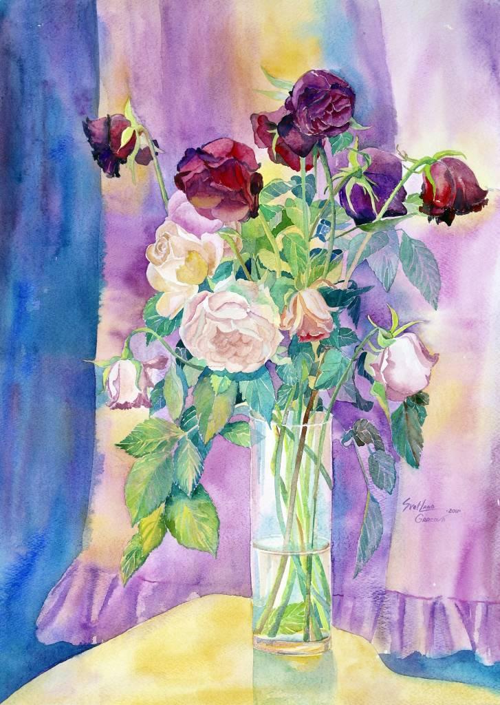 葛拉娜-瓶中的玫瑰花 Roses in a Vase