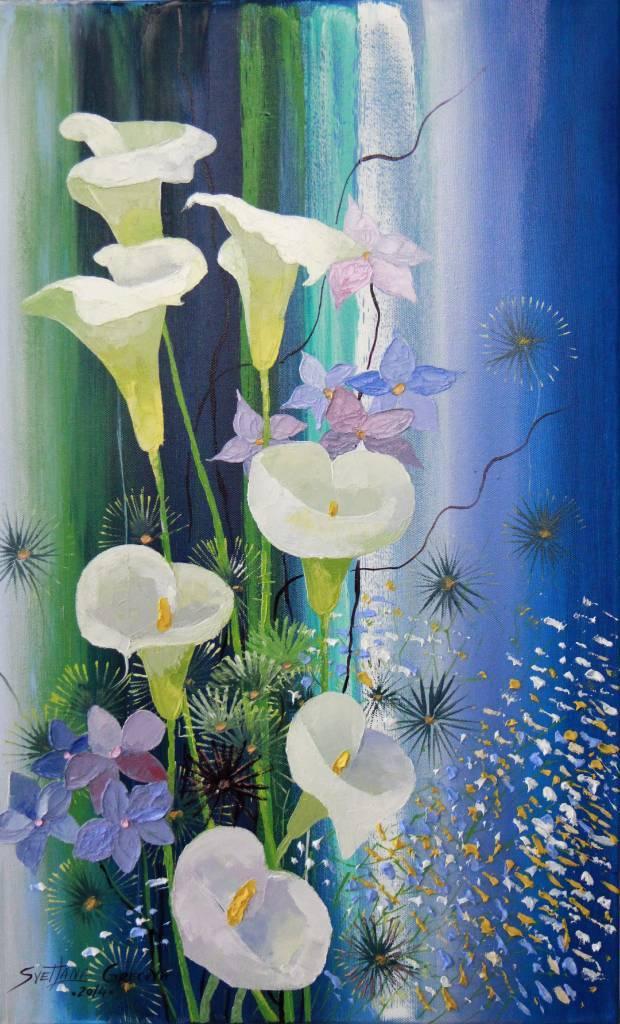 葛拉娜-Bouquet in blue
